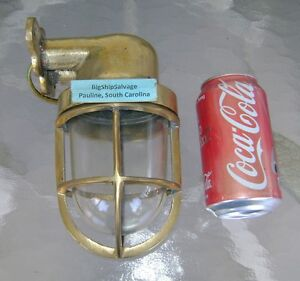 Vintage Cast Brass Wall Mounted Nautical Light Polished Rewired