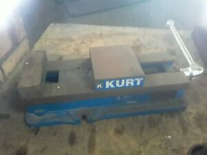 Kurt Anglock 6 Milling Machine Vise W Jaws Handle d688