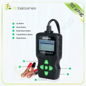 Lcd Vehicle Car Digital 6v 18v Battery Test Analyzer Diagnostic Tool Brand New