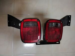 Grote 5370 5371 Tail Lights Trailer Set Truck Ford Rv Semi W Mounting Brackets