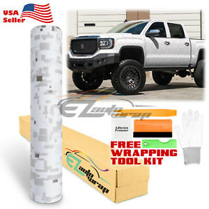 Digital Camouflage Camo White Vinyl Sticker Wrap Decal Film Air Release