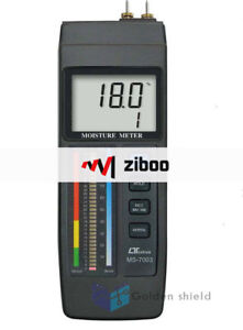 Lutron Ms7003 Concrete wood Moisture Meter Red Led Bar Graph Lcd Display