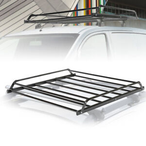 38 38 4 5inch Rooftop Cargo Basket Roof Top Luggage Carrier Rack Hauling Luggage