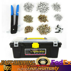 464pcs M3 M4 M5 M6 M8 Ribbed Threaded Nut Rivet Insert Tool Riveting Gun Set New