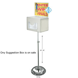 Suggestion Box In White Large 11w X 8 25d X 8 25h Inches With Sign lock
