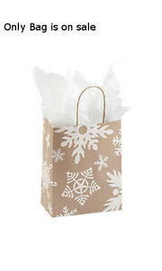 Giant Snow Flake Medium Paper Shopping Bags 8 W X 5 D X 10 H Inches Lot Of 100