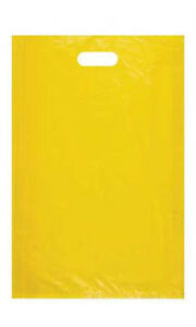 Yellow High Density Large Merchandise Bags 15 X 4 X 24 Inches Case Of 1000