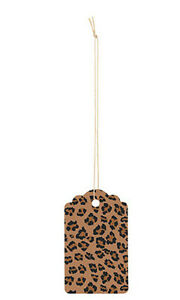 Leopard Brown Scallpped Large Price Tags 3 h X 2w Inches Case Of 500