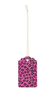 Leopard Pink Scalloped Large Price Tags 3 h X 2w Inches Case Of 500