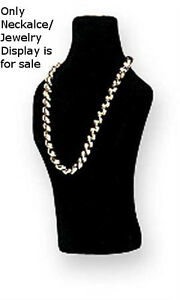 Plastic Jewelry Bust In Black Flock 6w X 10h Inches