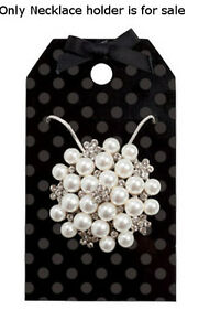 Plastic Necklace Holder In Black Dots Finish 2 1 2w X 4 1 2h Inches Lot Of 50