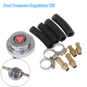 Gunmetal Fuel Pressure Regulator Kit Adjustable For Carb Carburetor Engine V8j1