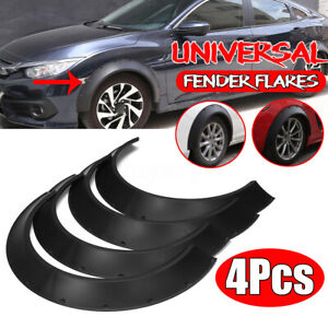 4pc Extra Wide Body Fender Flares Pocket Rivet For Tesla Model 3 Model S Model X
