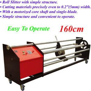 Easy To Operate Width Vinyl Film Precisely Roll Cutting Slitter Machine 160cm