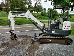 2013 Bobcat E42 Mini Excavator 2372 Hours