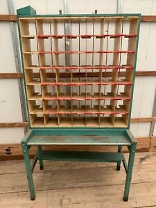 2 Post Office Sorting Cabinet Industrial Storage Display Architectural Salvage