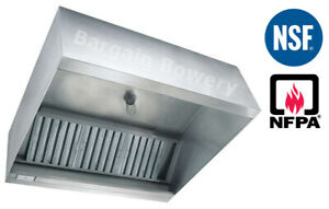 6 Ft Restaurant Commercial Kitchen Box Grease Exhaust Hood Type I Hood