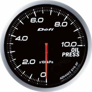 Defi Df10201 Oil Pressure Gauge