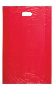 Red High Density Large Merchandise Bags 15 X 4 X 24 Inches Case Of 1000