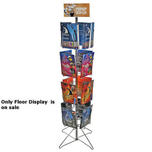Metal 16 Pocket Wire Literature Display Rack 8 5w X 11h Inches With Metal Base
