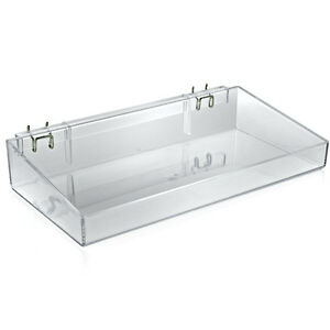 Styrene Plastic Open Tray Pegboard In Clear 16w X 3h X 8d Inches Count Of 2