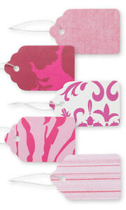 Designer Paper Price Tags In Pink 1 1 16w X 1h Inches Box Of 500