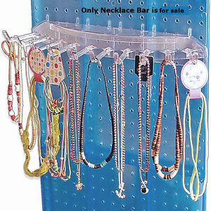 Lexan Plastic 10 Hook Necklace Bar 16 W X 6 25 D Inch For Pegboard Pack Of 4