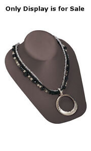 Necklace Bust Display In Chocolate 6 3 4w X 8l X 3 1 2h Inches