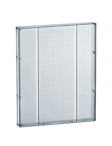 Plastic Pegboard Panels In Clear 16w X 20 25 H Inches Case Of 2