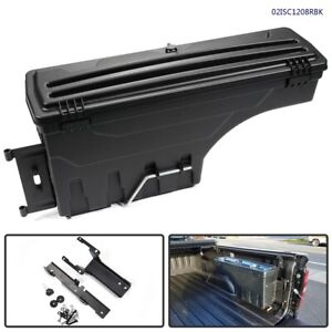 Black Rear Right Rh Truck Bed Storage Tool Box For 2015 2019 Ford F150