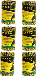 Zareba Systems Pw656y6 z Polywire 200m 6 conductor Portable Electric fence Rope