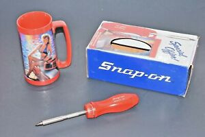 New Rare Snap On Tools Magnetic Ratcheting Screwdriver Collectors Stein Mug Bits