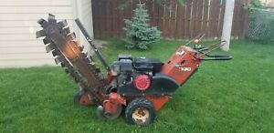 Ditch Witch 1330 Rubber Tired Walk Behind Trencher Honda Engine 36 Digging Dept