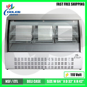 Deli Showcase Bakery Case 63 Refrigerator Pastry Case Display Commercial Nsf