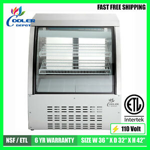 Deli Showcase Bakery Case 36 Refrigerator Pastry Case Display Commercial Nsf
