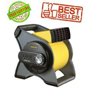 High Velocity Blower Fan Air Mover Pivot Carpet Dryer Floor Drying With Outlets
