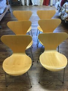 Six Series 7 Chairs By Arne Jacobsen For Fritz Hansen