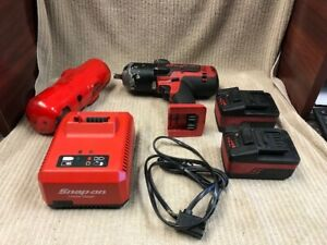 Snap on 1 2 Impact Wrench 18 V Ct8850 With Charger And 2 Batteries Ships Free