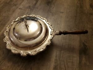 Vintage Ornate Silver Plate International Silver Co Serving Pan