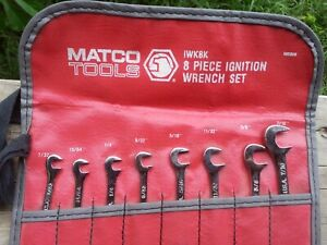 Matco Tools Iwk8k 8 Piece Ignition Wrench Set 7 32 7 16