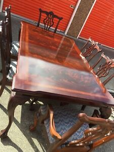 Thomasville Chippendale Mahogany Dining Table W 6 Chairs