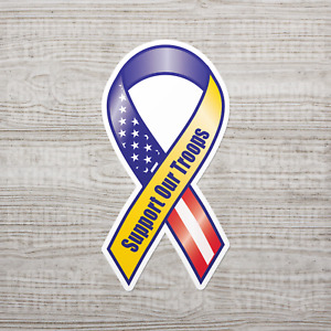 Support Our Troops Sticker Vinyl Decal Army Navy Marines Military Car Bumper Usa