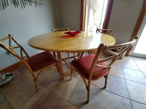 Heywood Wakefield Ashcraft Mid Century Table 6 Chairs 2 Credenzas Set