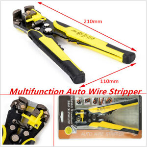 Professional Auto Car Wire Stripper Cutter Crimper Pliers Electric Tool Awg24 10