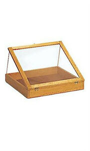 Wood Countertop Display Cases In Natural Pine 24 W X 24 L X 3 D Inches