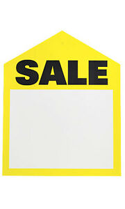 Yellow Sales Large Price Tags 6 H X 7 W Inches Pack Of 50