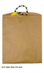 Natural Kraft Paper Large Merchandise Bags 12 X 15 Inches Case Of 1000