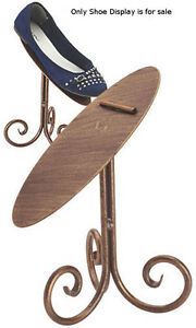 Shoe Display Stand In Rich Cobblestone 8 Inches