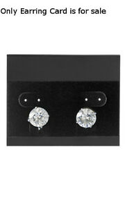 Earring Cards Plastic In Black Velour 2 5 W X 2 L Inches Case Of 200