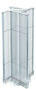 Neon Clear Pegboard Pinwheel Unit On Plastic Revolving Base 13 5w X 44h Inches